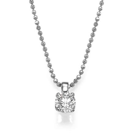 שרשרת יהלום - תליון יהלום קלאסי בלבן