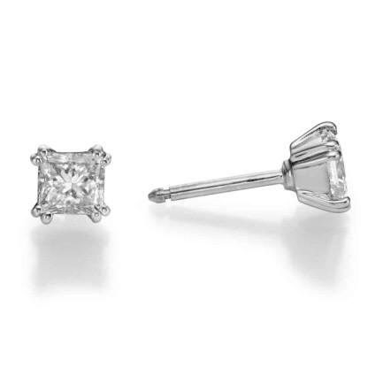 עגילי יהלומים - עגילי פרינסס