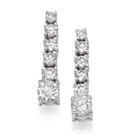 עגילי יהלומים - עגילי לירון