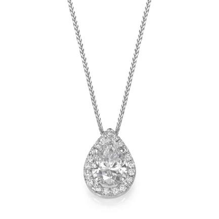 שרשרת יהלומים - תליון יהלום בצורת טיפה