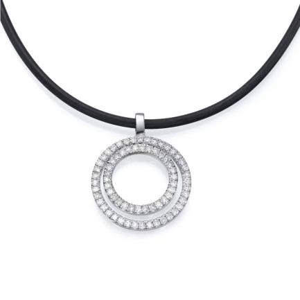 שרשרת יהלומים - תליון טבעות