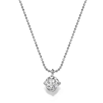 תליון יהלום - שרשרת עם יהלום בודד
