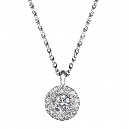 שרשרת יהלומים עם יהלום מרכזי