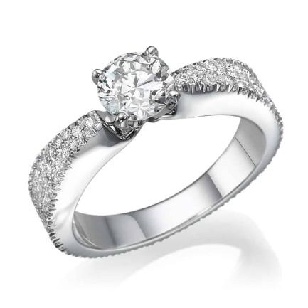 טבעת אירוסין - טבעת יהלומים - דגם רזולוזיה 1