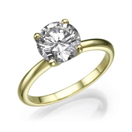 טבעת אירוסין סוליטר