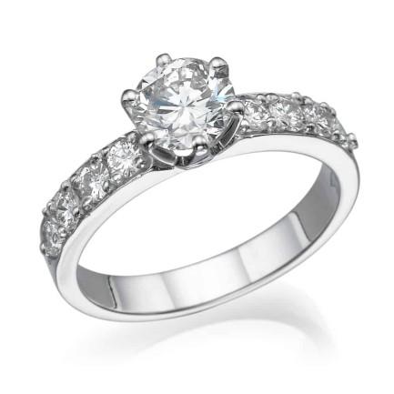 טבעת אירוסין - טבעת יהלומים - דגם כתר