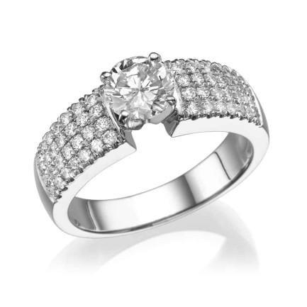 טבעת יהלומים - דגם גרנד