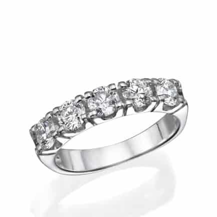 טבעת אירוסין | איטרניטי | 5 אבנים | רונית זילברשטיין