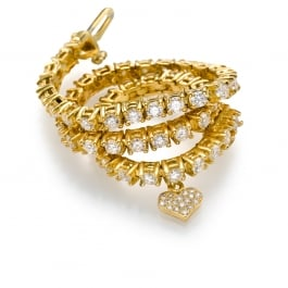 צמיד טניס עם יהלומים - זהב צהוב