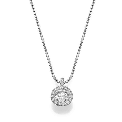 שרשרת יהלומים קלאסית - תליון יהלום דגם רונה