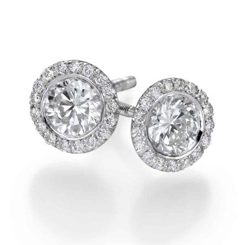 עגילי יהלומים - דגם רונה 2