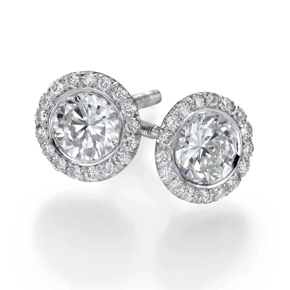 עגילי יהלומים – רונה צמודים