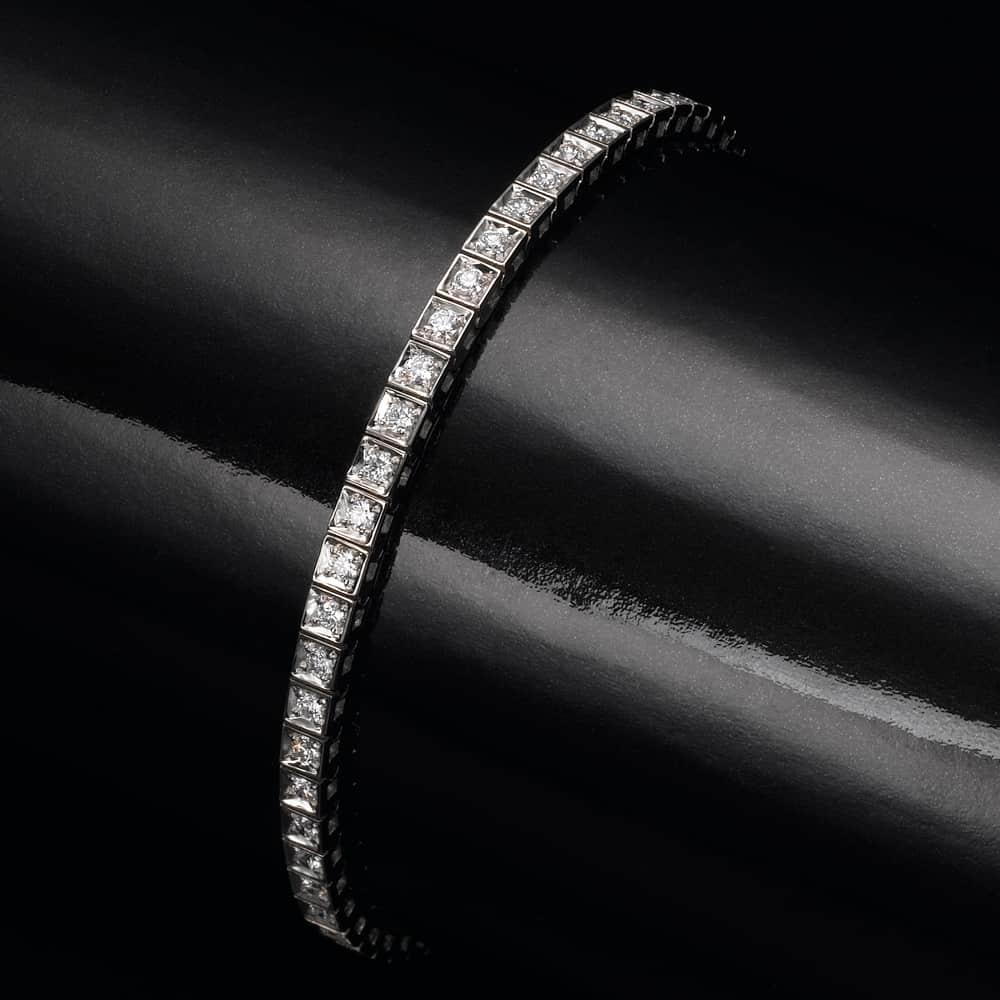 צמיד טניס יהלומים – קוביות