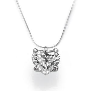 שרשרת יהלומים - תליון יהלום בצורת לב