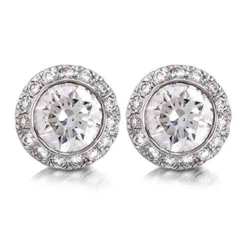 עגילי יהלומים - דגם רונה