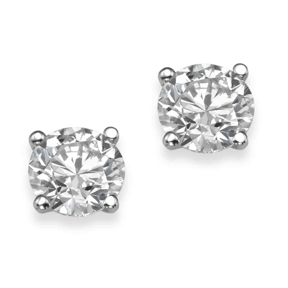 עגילי יהלומים – סוליטרים