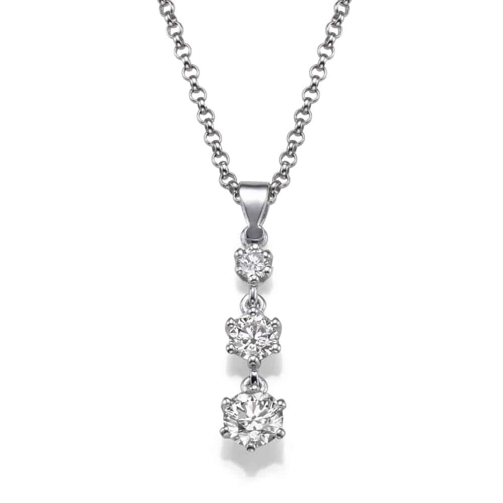 שרשרת יהלומים – תליון טרי סטון