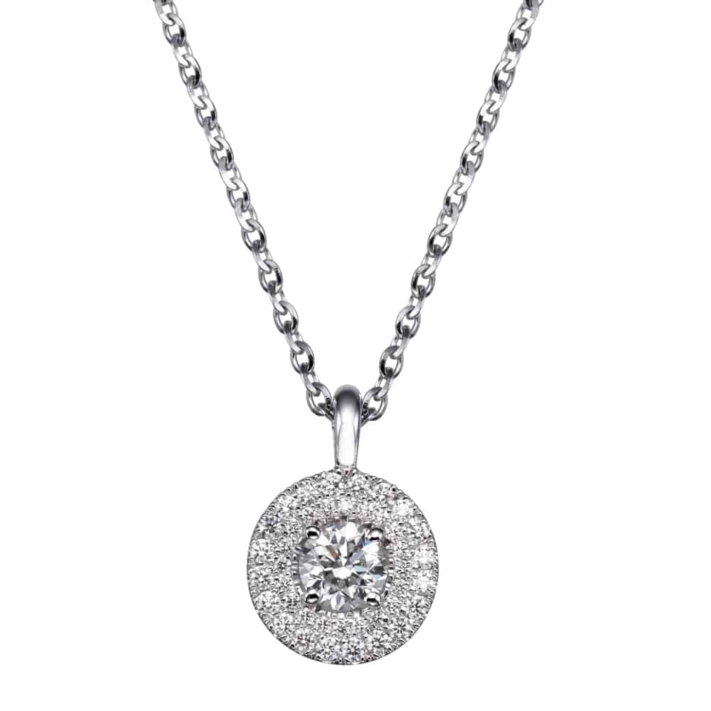 שרשרת יהלומים – תליון 2 שורות