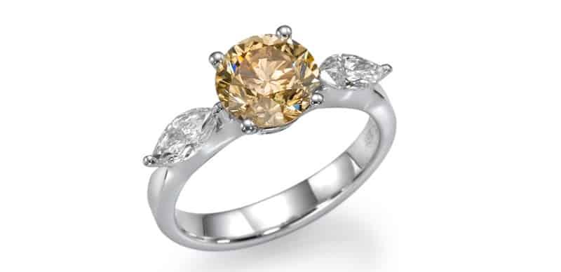 טבעת יהלומים מפוארת