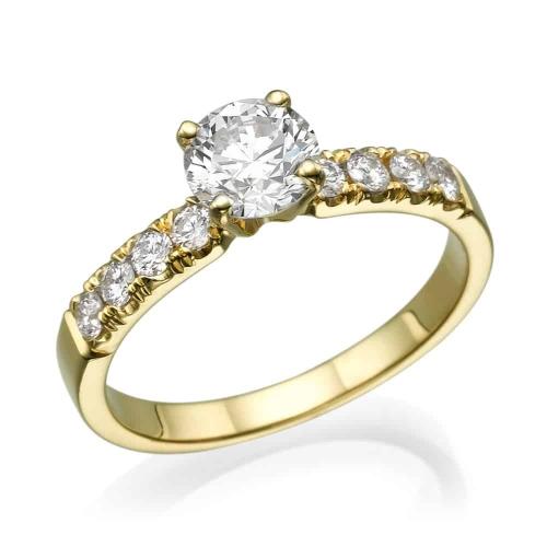 טבעת אירוסין - טבעת יהלומים - דגם שולי 2