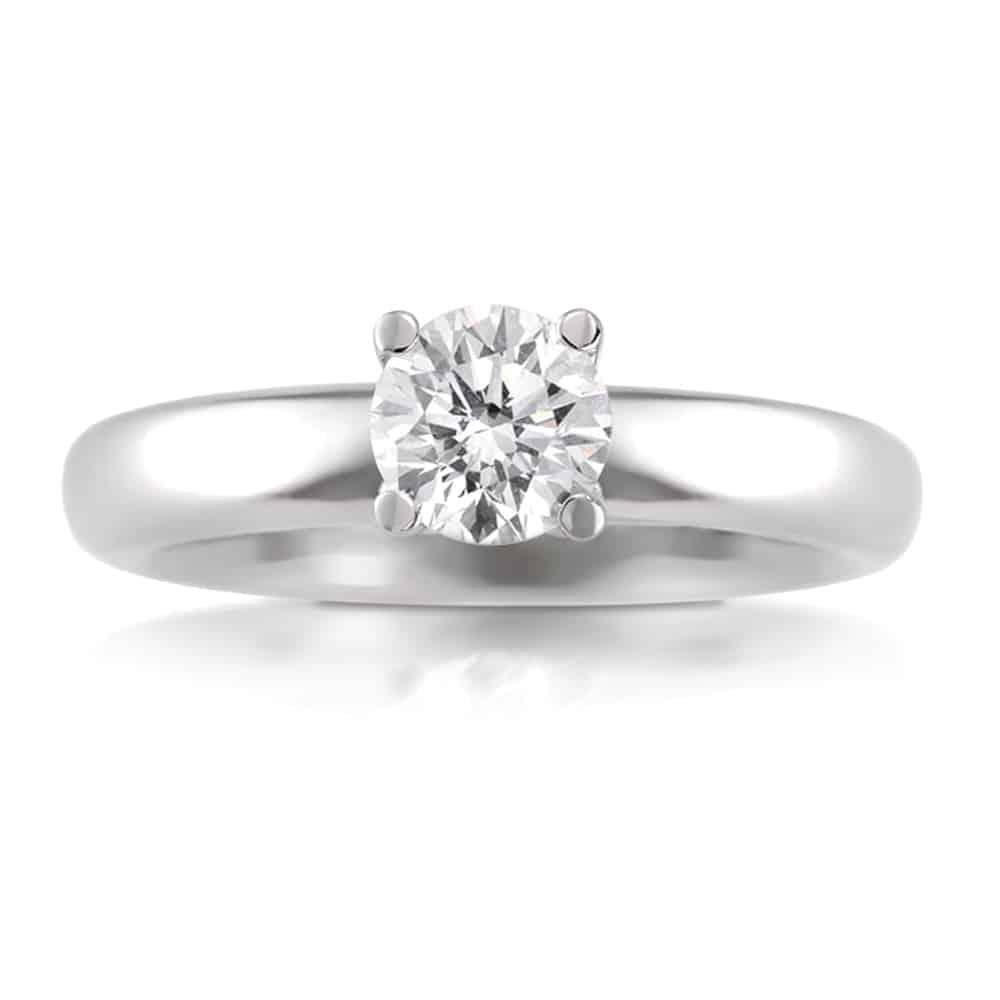 טבעת אירוסין - טבעת יהלומים - דגם טבעת סוליטר