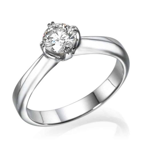 טבעת אירוסין - טבעת יהלומים - דגם טבעת סוליטר מסובבת