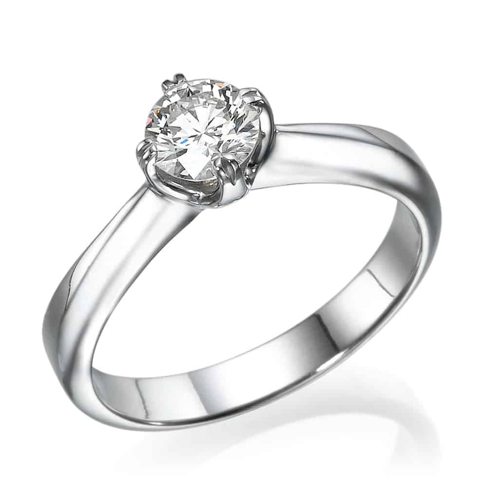 טבעת אירוסין סוליטר מסובבת