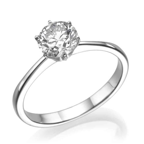 טבעת אירוסין - טבעת יהלומים - דגם טבעת סוליטר דגרדה