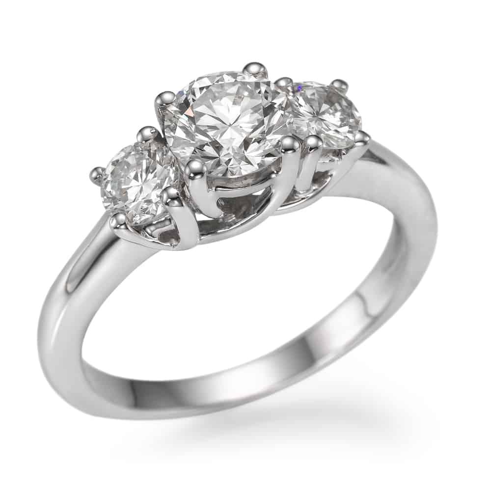 טבעת אירוסין טרי סטון עגול