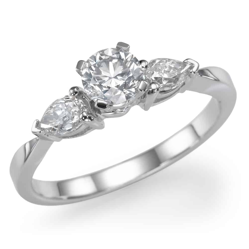 טבעת אירוסין - טבעת יהלומים - דגם טבעת טיפות שולץ
