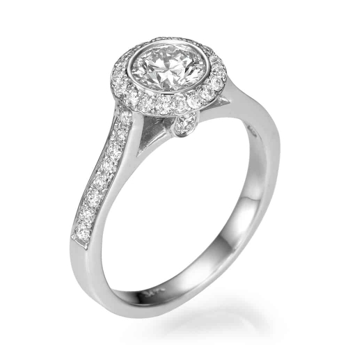 טבעת אירוסין - טבעת יהלומים - דגם טבעת רונה 2