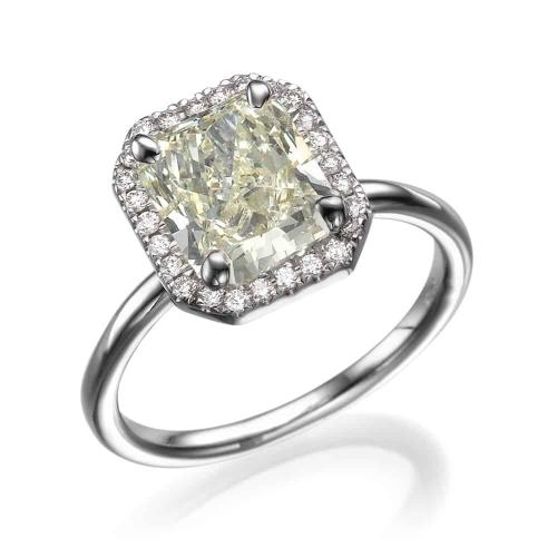 טבעת אירוסין - טבעת יהלומים - דגם טבעת רדיאנט JSI1