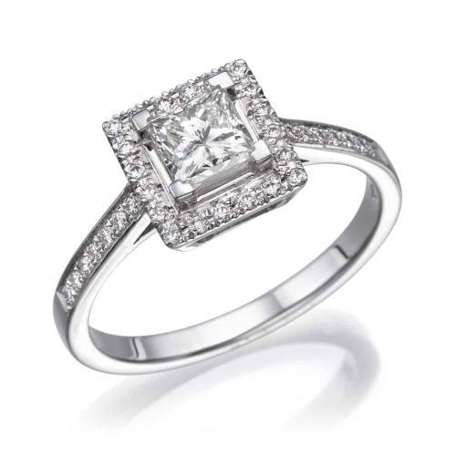 טבעת אירוסין - טבעת יהלומים - דגם טבעת פרינסס רונה חדשה