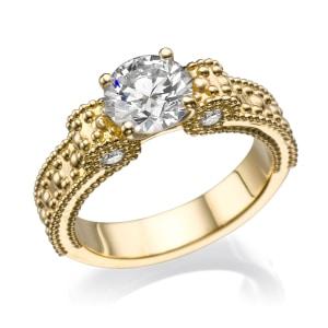 טבעת אירוסין - טבעת יהלומים - דגם טבעת פפיון