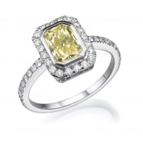 טבעת אירוסין - טבעת יהלומים - דגם טבעת פנסי קולור 2 קרט