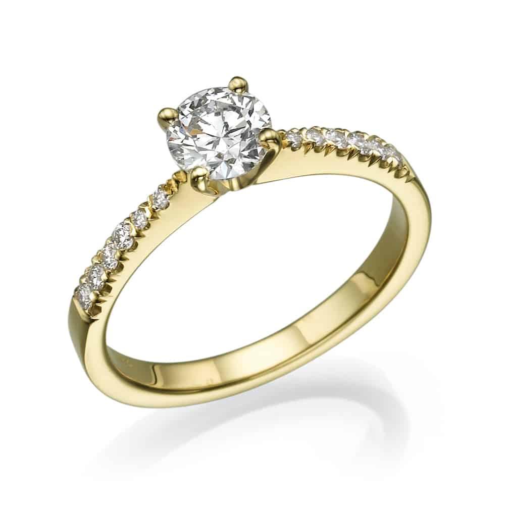 טבעת אירוסין סימה בצהוב