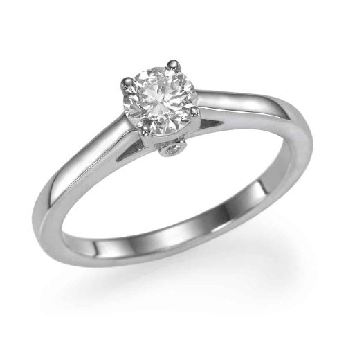 טבעת אירוסין - טבעת יהלומים - דגם נשיקה