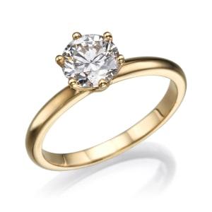 טבעת אירוסין - טבעת יהלומים - דגם מרטין
