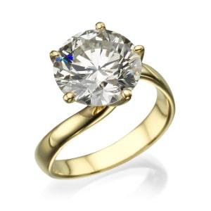טבעת אירוסין - טבעת יהלומים - דגם מסובבת