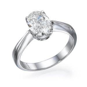 טבעת אירוסין - טבעת יהלומים - דגם אובל