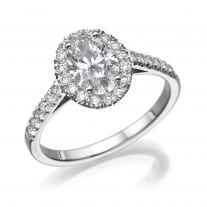 טבעת אירוסין - טבעת יהלומים - דגם אובל רונה