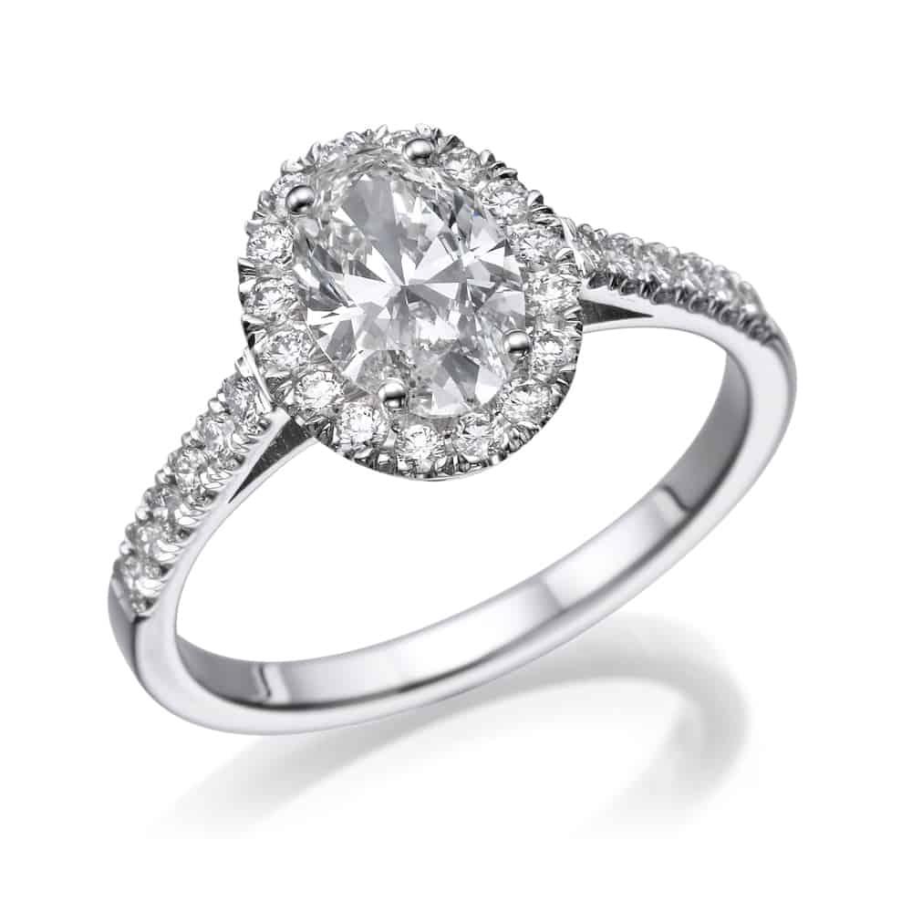 טבעת אירוסין אובל רונה