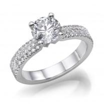 טבעת אירוסין מעוצבת דגם טבעת 3 שורות