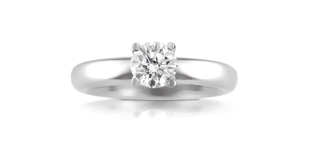 טבעת יהלומים - טבעת אירוסין קלאסית