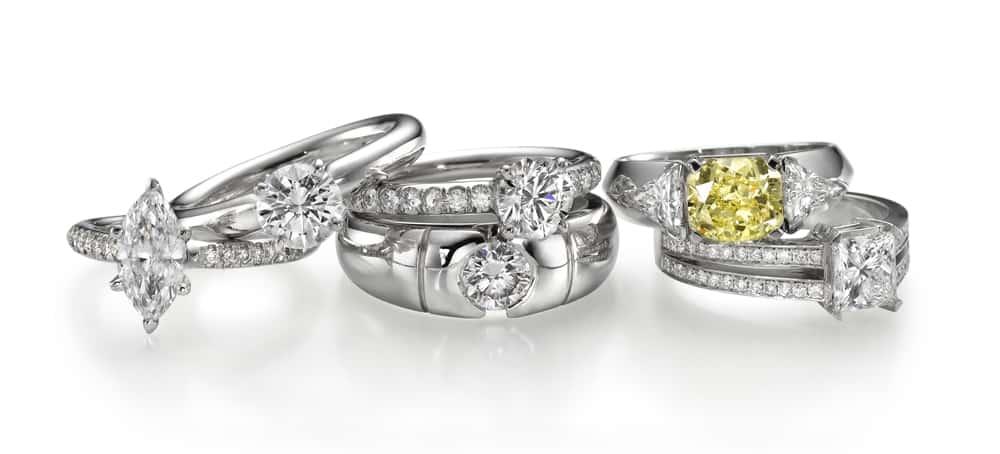 טבעות יהלומים בשלל עיצובים