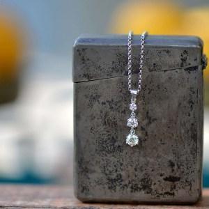 שרשרת יהלומים - תליון טרי סטון