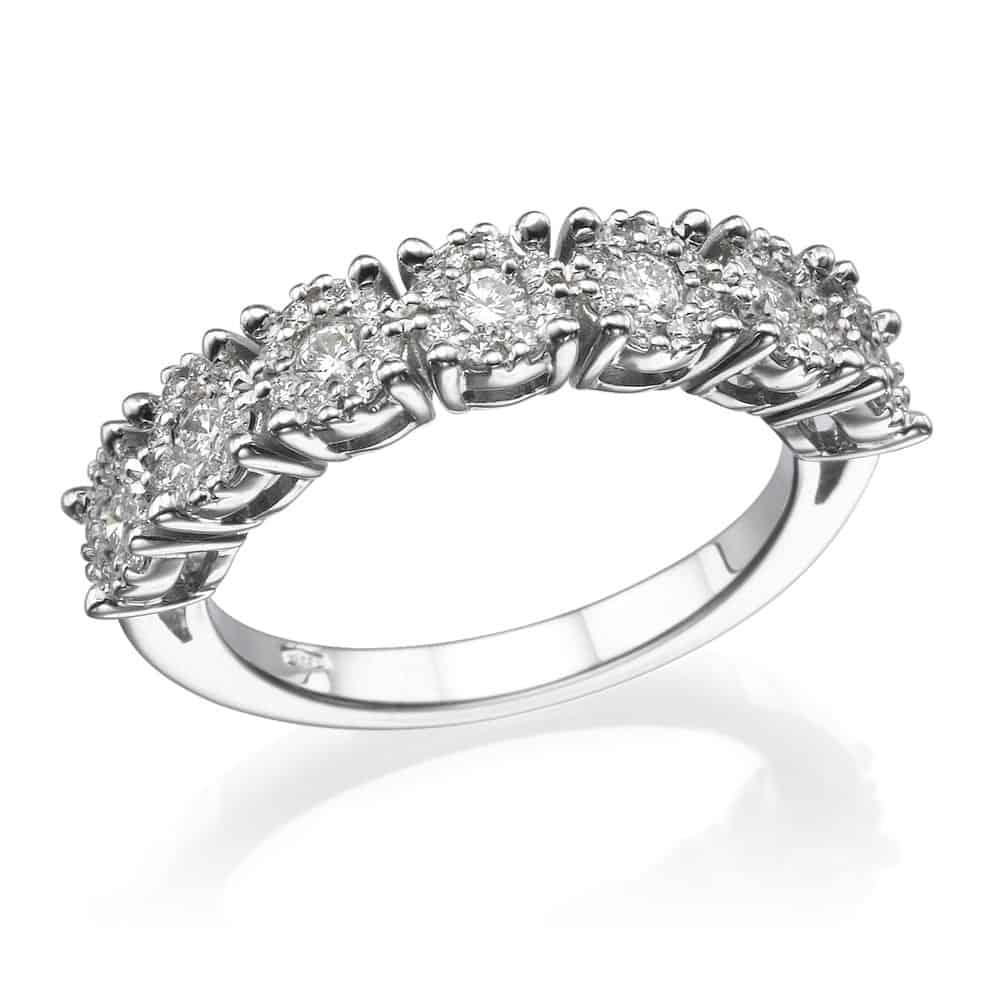 טבעת אירוסין יהלומים חצי איטרניטי