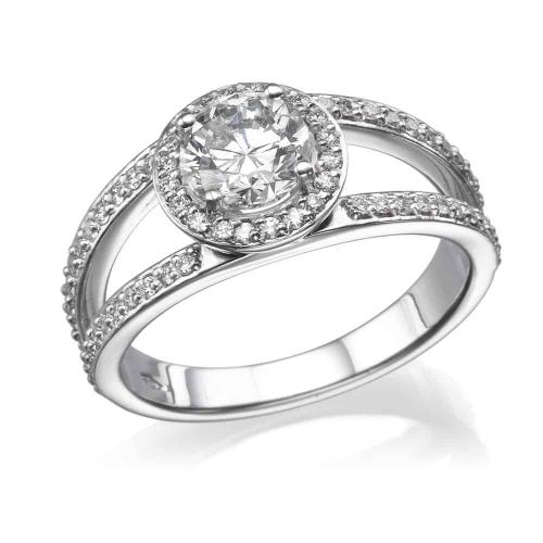 טבעת אירוסין - טבעת יהלומים - דגם רונה