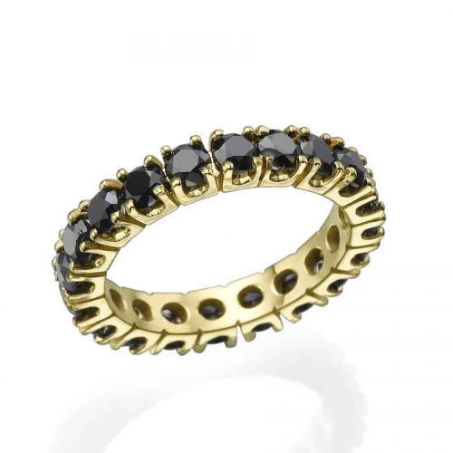 טבעת אירוסין איטרניטי בשחור