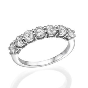 טבעת יהלומים חצי איטרניטי